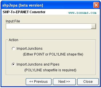 shp2epa utility conversion – Water Simulation