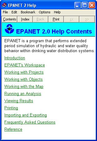 EPANet help file